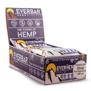 blueberry cashew organic healthy hemp cbd protein bars everhemp