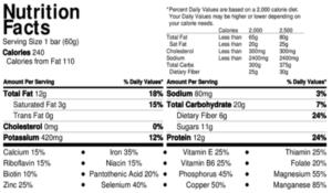 everhemp+ cinnamon ginger cbd organic healthy hemp protein bars nutrition facts