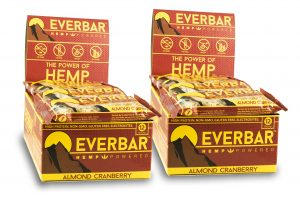 livity foods almond cranberry everbar healthy natural hemp protein bars edibles hemp power go forever