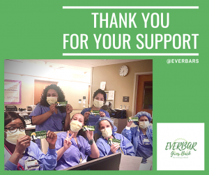 everbar gives back giveback community charity livity foods donation donating frontline workers healthcare hero heroes
