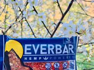 everbar everhemp livity foods cbd protein healthy natural hemp bar omega3 omega6 athlete workout outdoor organic ice climbing hiking green power blueberry cashew cranberry almond cinnamon ginger travel mountains camping extreme sports food photography spring flowers