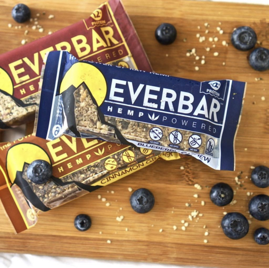 everbar everhemp livity foods cbd protein healthy natural hemp bar omega3 omega6 athlete workout outdoor organic ice climbing hiking green power blueberry cashew cranberry almond cinnamon ginger travel mountains camping extreme sports food photography